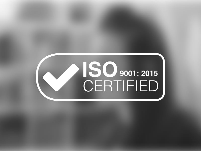 Proud to announce ISO9001: 2015 Upgrade