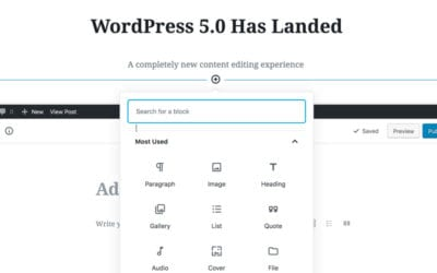 WordPress 5.0 Is here. Tell me more.